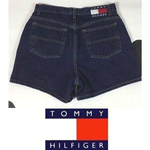 Vintage 90s Tommy Hilfiger Jean Shorts 1 Juniors